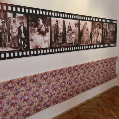 Részlet a Roma holokauszt kiállításból