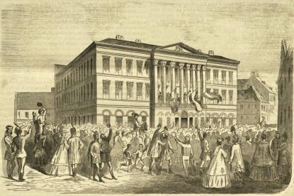 A pesti Vármegyeháza, 1861 (Vasárnapi Ujság)