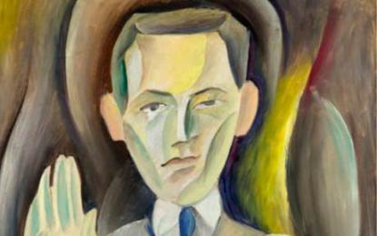 Victor Brauner: Síró szemű önarckép. 1926, vászon, olaj, 74x56 cm. A bukaresti Muzeul de Arta Recenta tulajdona.