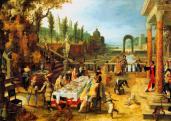 Sebastian Vranex (1573-1647): Étkező társaság szabadban