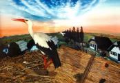 A fehér gólya (dioráma)