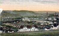 A vasgyár és a munkáskolóniák 1917-ben