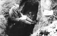 Ferenc Móra on an excavation