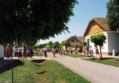 Summer street in the open-air museum