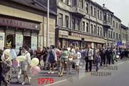 Május elsejei felvonulás, Pécs, 1975