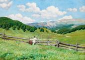 Glatz Oszkár (1872-1958), A román határnál, 1900 körül