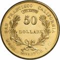 Wass, Molitor & Co., 50 dollár, 1855