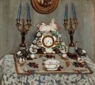 Fényes Adolf (1867-1945), Csendélet porcelánórával, 1910 körül
