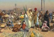 Leopold Carl Müller: Piac Alsó-Egyiptomban