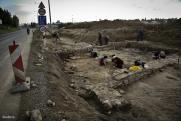 Az ásatás helyszíne a Tolna megyei Bonyhád mellett