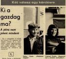 A Dunántúli Naplóban a pályaterverzésről nyilatkozik (1976. 10. 24., p3.)