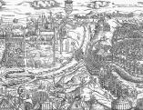 Erhard Schön (1491-1542 körül): Buda ostroma. 1541 (a metszet középső része)