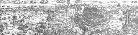Erhard Schön (1491-1542 körül): Buda ostroma. 1541 (a teljes_metszet)