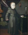 Gróf Esterházy Antal gyermekkorában. 1678 (A kép felirata: COMITITIS. ANTONII ESZTERHASI. EFFIGIES TRVM. ANN. EXISTENTIS EX VOTO. PARENTVM OBLATA. S. ANTONIO. Ao. 1678.)\r\n