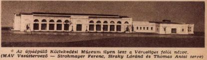 A Közlekedési Múzeum terve, Érdekes Újság, 1958