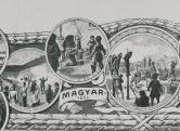 A Kreith-féle Ereklyemúzeum emléklapja, litográfia (részlet)