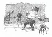 Teniszező mackók (Mühlbeck Károly festőművész, grafikus illusztrációja)