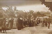 Heti piac a Majláth (ma Kossuth) téren 1910-ben, Pécs