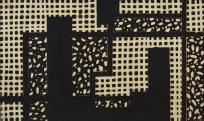 Makarius Sameer: Kompozíció; linóleummetszet, papír; 150 × 252 mm