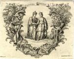 Allegória Magyarország és Ausztria szövetségére. 1735 Rézmetszet. Nicolaus Bruno Belau (1684-1747)-Andreas Schmutzer (1700-1740) és Joseph Schmutzer (1683-1740)\r\n\r\n