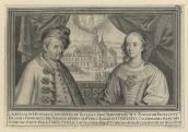 Nádasdy Ferenc és Esterházy Anna Julianna kettősportréja, rézmetszet