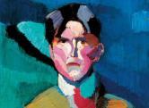 Nemes Lampért: Önarckép, 1911, vászon, olaj, 75x60 cm
