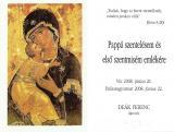 Deák Ferenc újmisés emléklapja