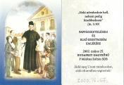 P. Márkus Zoltán emléklapja