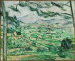 Paul Cézanne: A Montagne Sainte-Victoire a nagy píneával, 1886-87