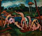 Perlrott Csaba Vilmos (1880-1955): Fürdőző fiúk,1911\r\n