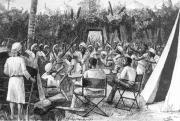 Zendülés a táborban