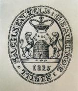 Sachsenfeld seal from 1825