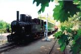 Narrow railway and railway station