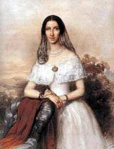 Miklós Barabás : portrait of Mrs. Emich Gusztáv Anderle Jozefa