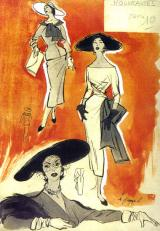 The fashion sketch of Mária Hamza Lehel