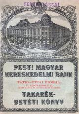 The bank book of the Hungarian Bank of Commerce from the 1930