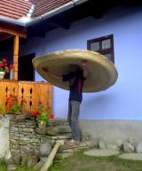 2-meter in diameter straw hat