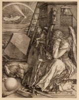 Albrecht Dürer: Melenkólia I., 1514, Rézmetszet, 238 × 185 mm\r\n\r\n
