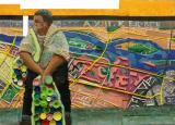 Bács Emese, Gyűjtegő a XIII. kerületben, 59 x82 cm, olaj, kollázs, farost, deszka, 2014.kis
