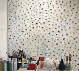 Fürjesi Csaba: Műterem (részlet), 2017, 180x200cm, olaj, vászon