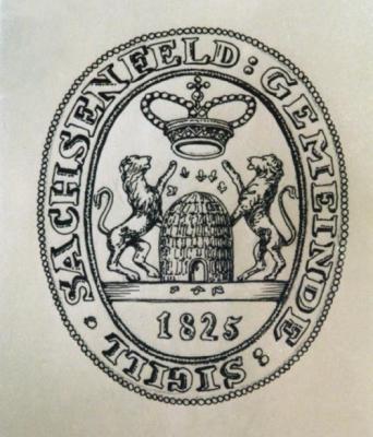 Sachsenfeld pecsétje - 1825-ből