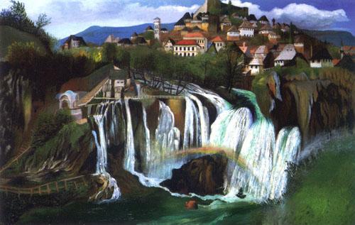 Csotváry Koszktka Tivadar: Jajcei vízesés