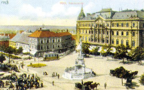 A Széchenyi tér (1913) - korabeli képeslapon