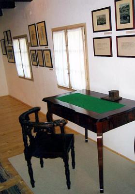 Tompa Mihály dolgozószobája