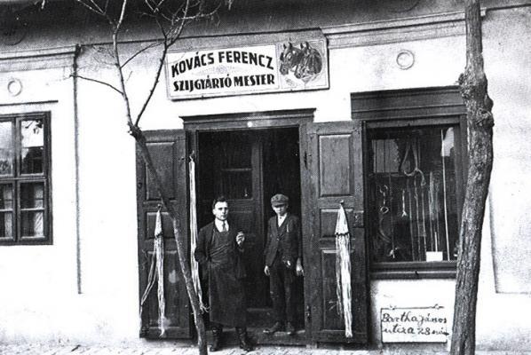 Kovács Ferenc szentesi szíjgyártó műhelye