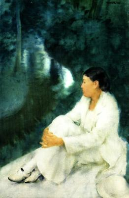 The Harmony of White and Green, (Aquarelle, 1936)