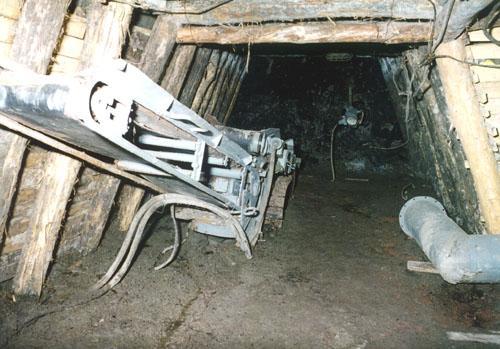 Részlet a gépsor föld alatti szakaszából