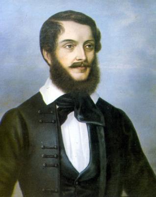 Albert Fay: portrait of Lajos Kossuth