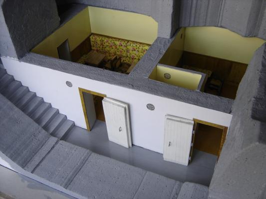 A Horthy-bunker makettje<br>Készítette: Inhof János