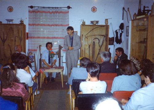 Lecture in the room of the ethnography collection (1994)